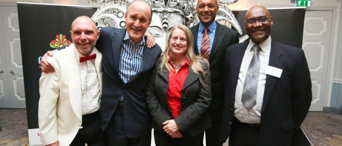 Chris Slann (Executive Director The NCC with Peter Bazalgette, Lisa Marie Trump, actor Colin Salmon and Hopeton Walker