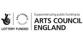 Lottery Funded  & Supported using public funding by Arts Council England