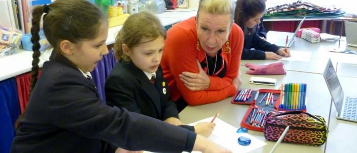 Ryde School pupils researching their Mardi Gras theme (1280x958)